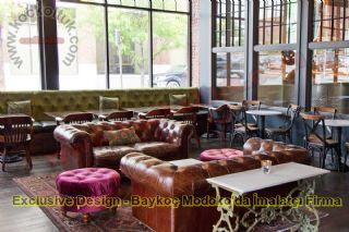 Modern Lüks Cafe Restoran Sedir Koltuk Modelleri