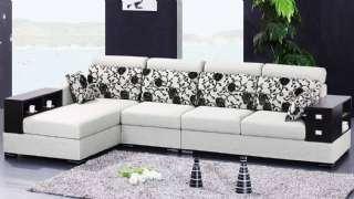Modern Köşe Koltuk Takımı Siyah Beyaz Renkler