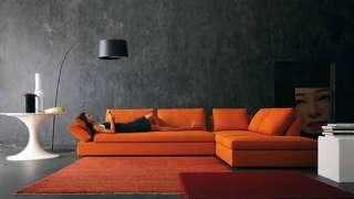 Modern Köşe Koltuk Turuncu Renkler