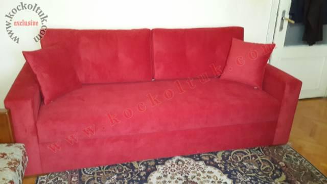 Kırmızı Yataklı Sandıklı Modern Koltuk