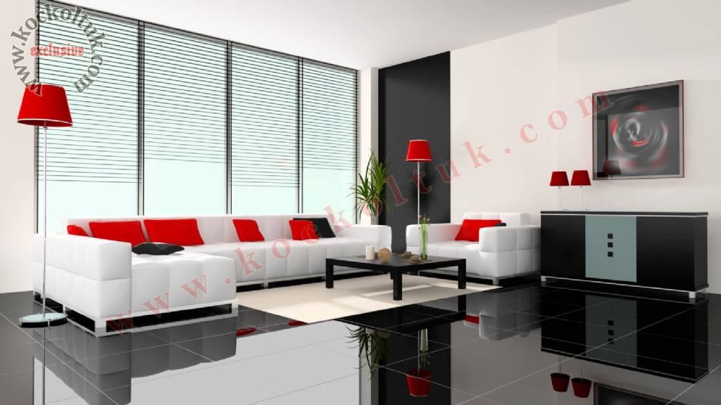 Ultra Modern Beyaz Küp Dekoratif Koltuk Takımı