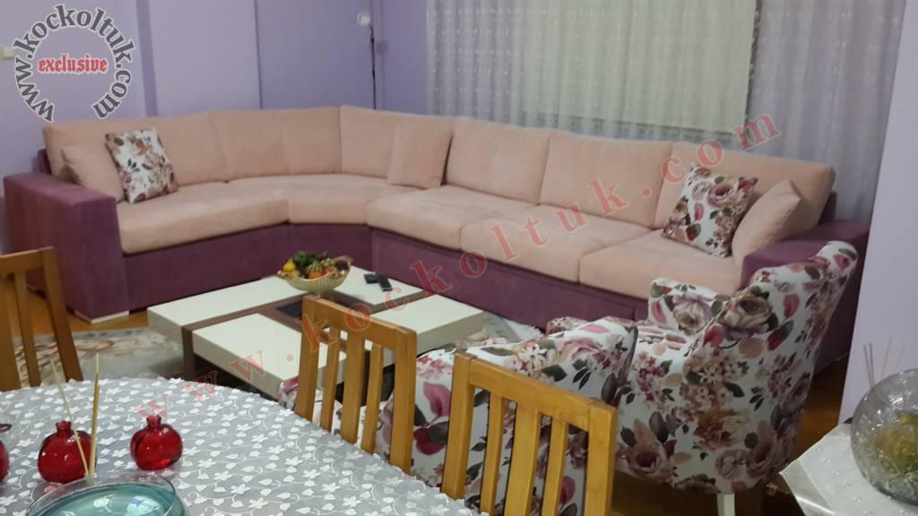 Yataklı Sandıklı Berjelli Sertex Kumaş Modern Köşe Koltuk Ta