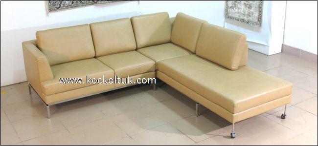krem deri yataklı  köşe koltuk takımı imalattan size özel