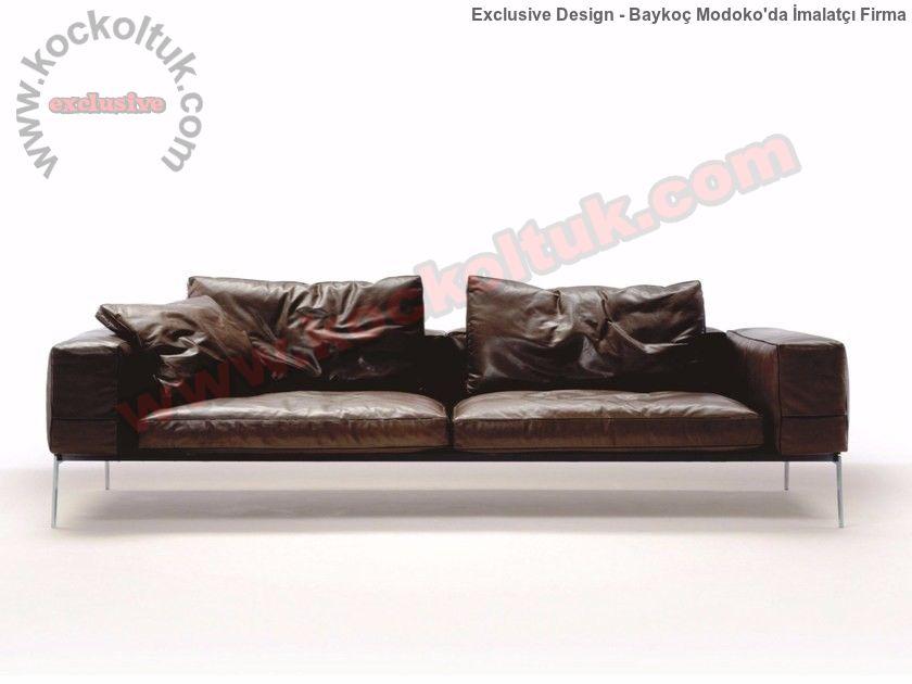 Hakiki Deri Luxury Modern Kanepe Gösterişli Zengin Ve Zarif Tasarımlar