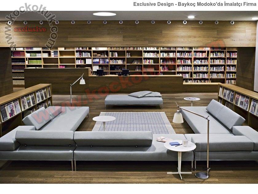 Kitaplık Modüler Modern Köşe Koltuk Takımı Rahat Rahat Okumak İçin