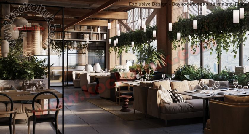 Lüks Restoran Koltukları Mobilyalar Sandalyeler Masalar