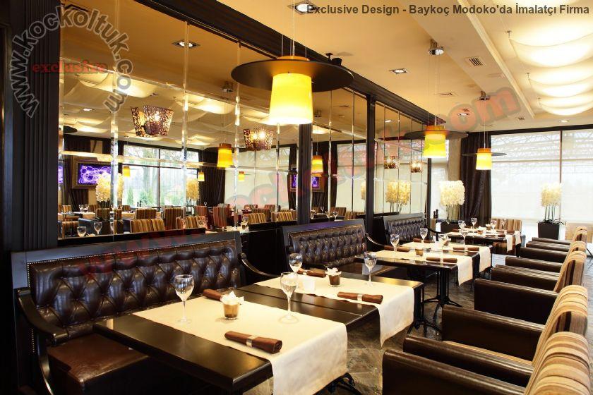 Lüks Restoran Tasarımı Koltuk Sedir Mobilyalar Sandalyeler Masalar
