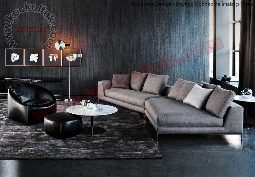 Modern Koltuk Takımı Benzersiz Kanepe Tasarımı Dekoratif Lüks Ve Modern Koltuk