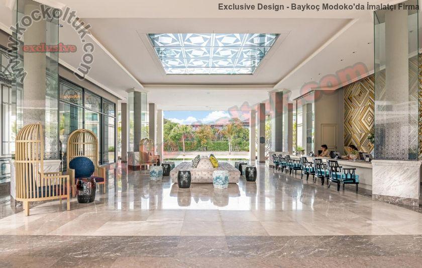 Modern Lüks Otel Loby Tasarımı Ve Üretimi Koltuk Mobilya