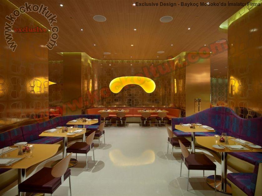 Modern Lüks Restoran Mobilyaları Masa Sandalye Koltuk Üretimi