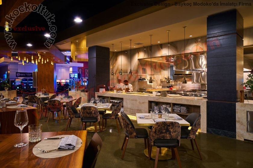 Modern Restoran Mobilya Masalar Ve Sandalyeler Özel Lüks Üretim