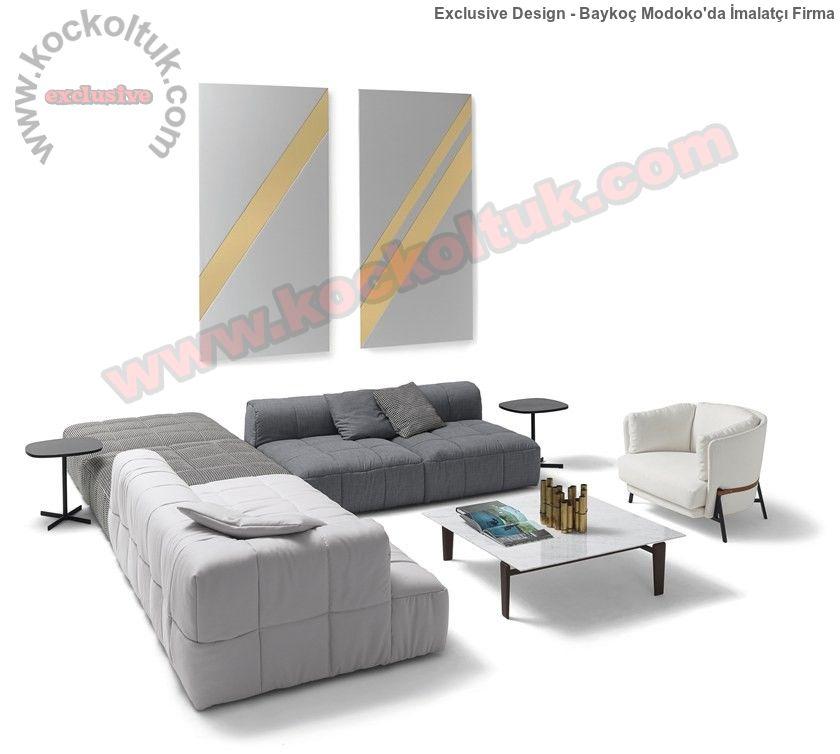 Modüler Lüx Modern Koltuk Takımı Fonksiyonel Tasarım Özel Üretim