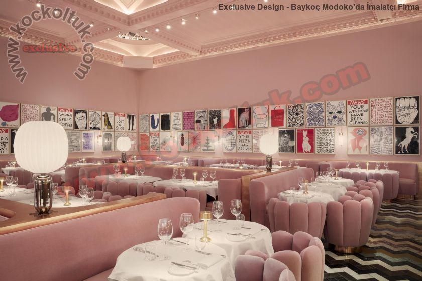 Özel Tasarım Lüks Cafe Restoran Koltuk Modelleri
