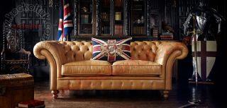 Hakiki Deri İngiliz Klasik Chester Koltuk