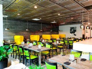 Masa Chester Sedir Sandalye Lüks Cafe Restoran Tasarımı