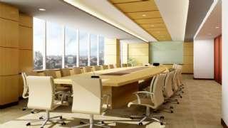 Lüks Ofis Konferans Salonu Oval Masa Ve Sandalyeler
