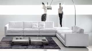 Modern Luxury Köşe Koltuk Takımı Beyaz Kumaş Kaplı