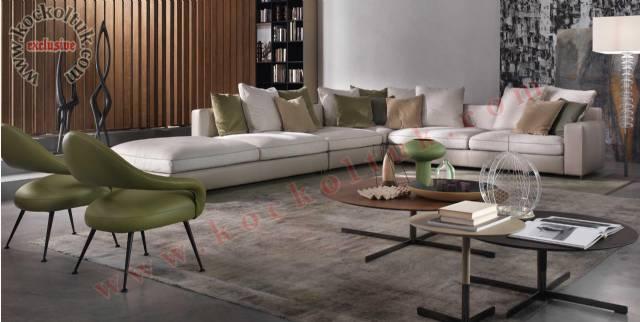 Bol Minderli Modern Luxury L Köşe Takımı