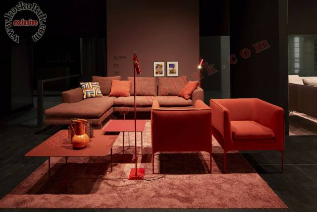 Kiremit Rengi Modern Lüks Köşe Koltuk Oda Tasarımı