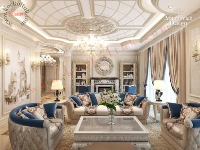 Klasik Modern Lüks Koltuk Takımı Lüks Otel Tasarımı