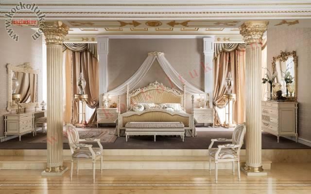 Lüks Cibinlikli Klasik Yatak Odası Lüks Otel Tasarımı