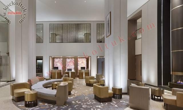 Lüks Modern Otel Lobi Tasarımı