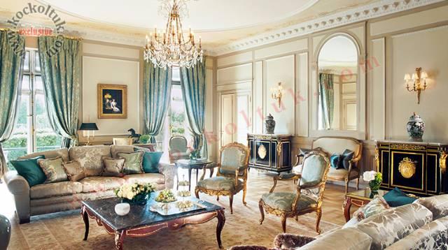 Lüks Otel Tasarımı Klasik Modern Koltuk Takımları