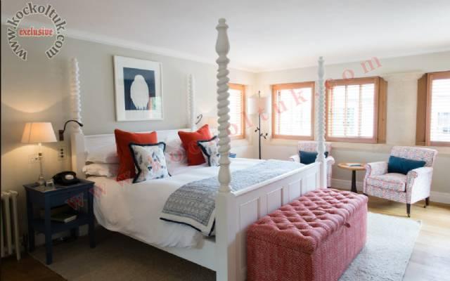 Lüks Otel Tasarımı Lüks Yatak Odası Beyaz Tasarım