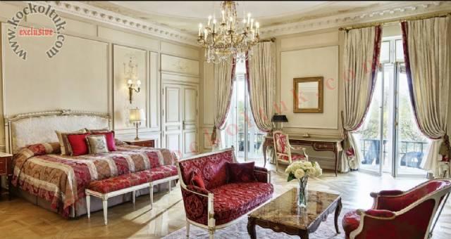 Lüks Otel Tasarımı Yatak Odası Klasik Lüks