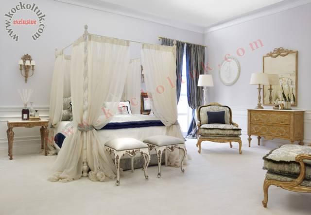 Lüks Otel Yatak Odası Yatak Klasik Koltuklar Mobilyalar