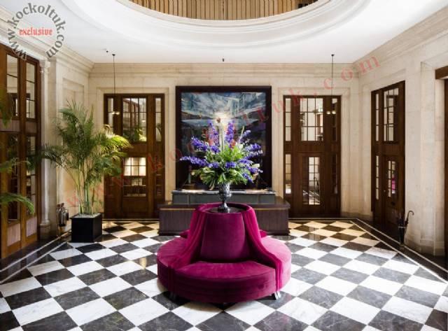 Lüks Otel Yuvarlak Dekoratif Koltuk Tasarımı