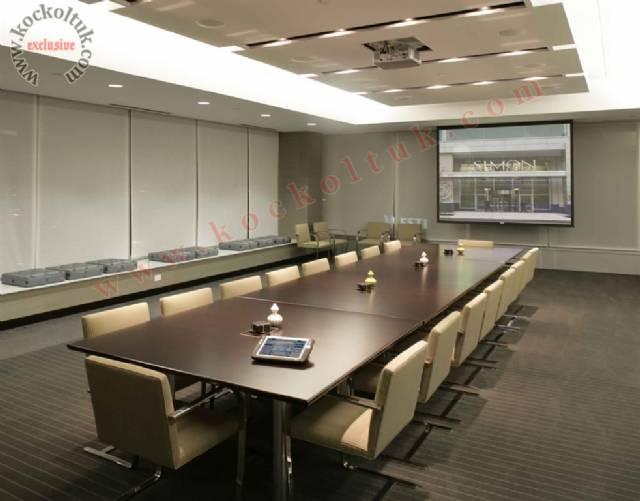 Ofis Konferans Salonu Dikdörtgen Masa Ve Sandalyeler