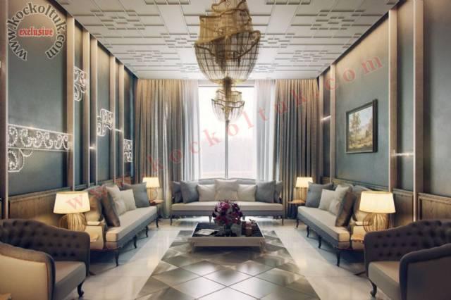 Otel Koltuk Takımı Lüks Klasik Modeller Lüks Otel Tasarımı