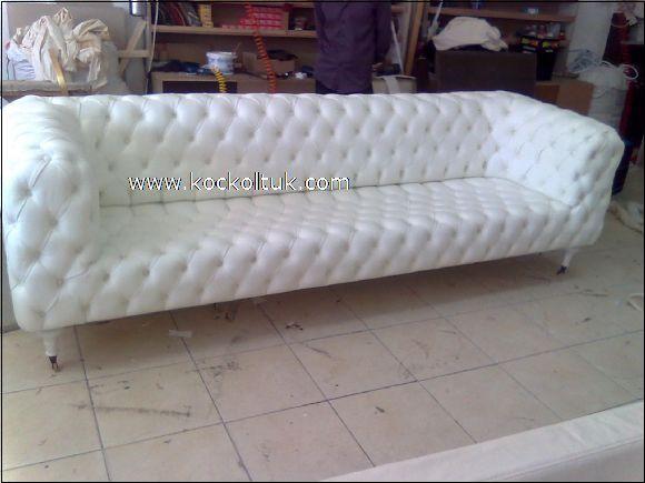 beyaz italyan  chester koltuk