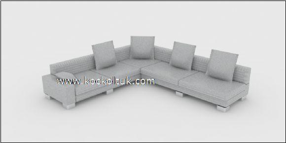 gri renk modern köşe koltuk