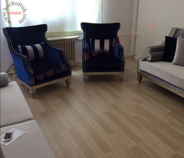 avangart koltuk luxury art deco bej gri mavi taşlı kadife