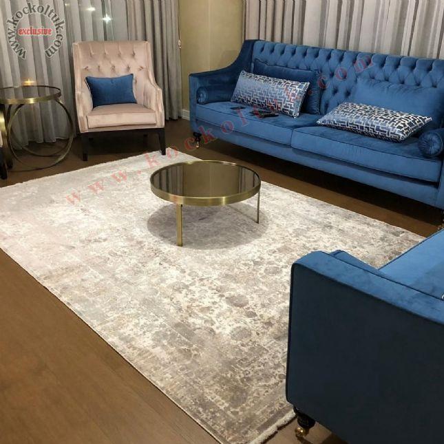 avangart chester koltuk luxury art deco bej mavi taşlı