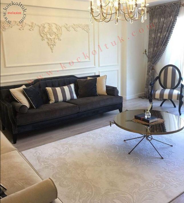 avangart chester antrasit gri klasik koltuk luxury art deco