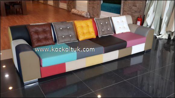 renkli kumaş modern koltuk