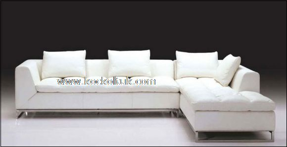 beyaz modern köşe koltuk