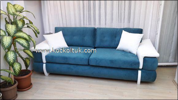 mavi modern koltuk