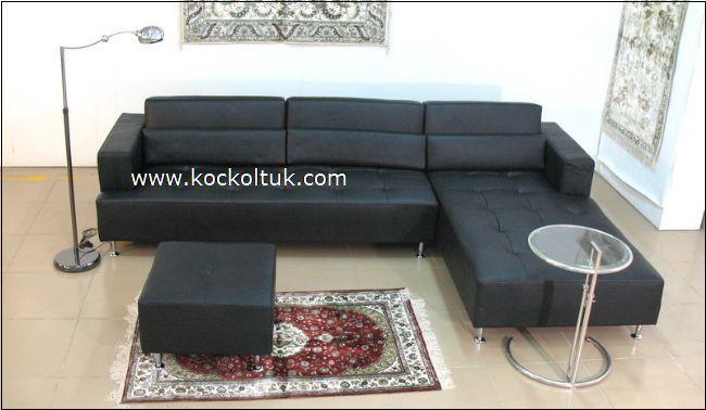 siyah deri köşe koltuk takımı imalattan size özel