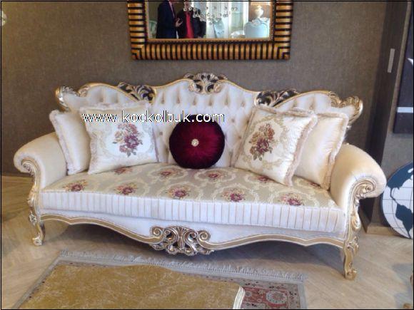 beyaz klasik koltuk takımı
