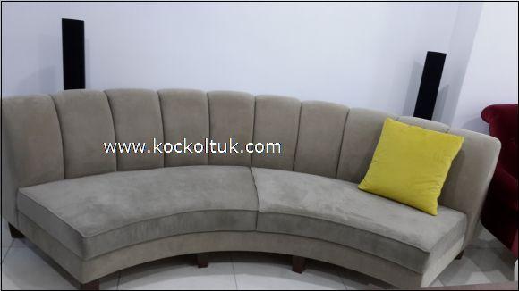 modern gri yuvarlak koltuk