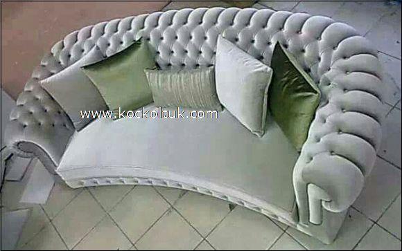 gri renk chester üçlü koltuk