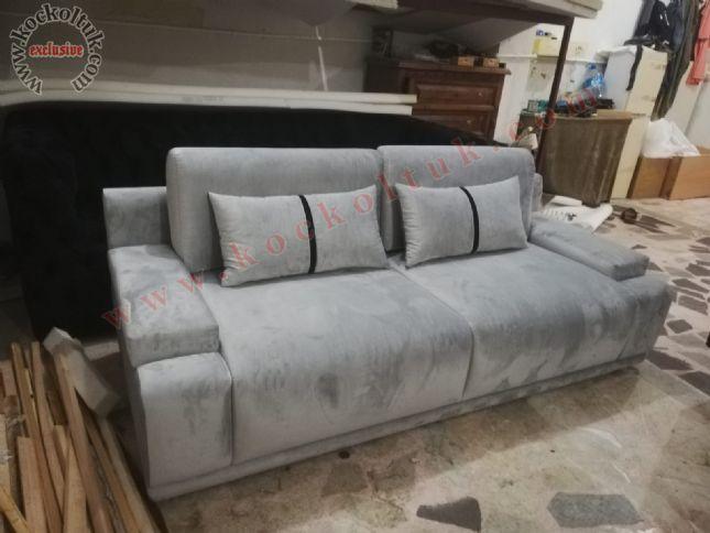 modern üçlü kanepe lüks özel kanepe gri kumaş