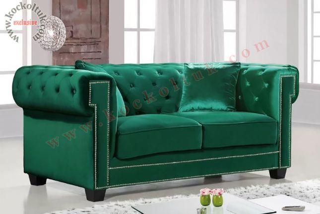 Yeşil Renk Chester Koltuk Takımları