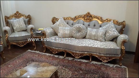 altın varak klasik koltuk takımı