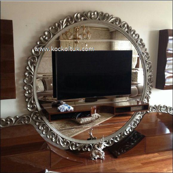 gümüş oymalı tv ünite