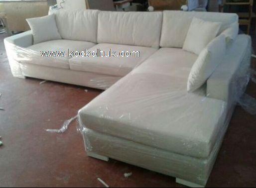 keten kumaş modern köşe koltuk